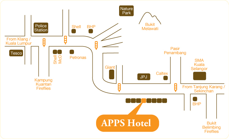 Location Map Of APPS Hotel Kuala Selangor