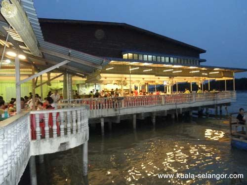 Side View Of Jeti Seafood Restaurant at Kuala Selangor